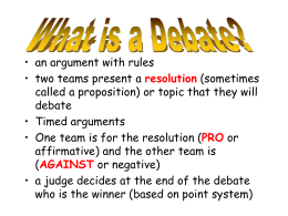 Debating Tips and Strategies