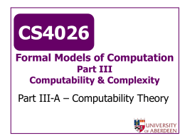 CS4026 - University of Aberdeen