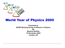 World Year of Physics 2005