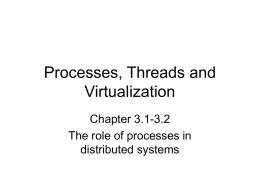 Threads and Virtualization