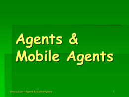 Introduction to Agent Technology
