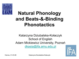 Natural Phonology and Beats-&
