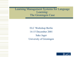 Electronic Learning Environments and Language Learning