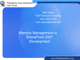 SharePoint Memory Management