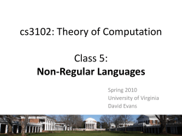 cs3102: Theory of Computation (aka cs302: Discrete