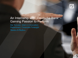 Deutsche Bank screenshow template