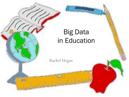 Data-Driven Education