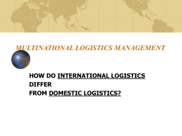MULTINATIONAL LOGISTICS MANAGEMENT
