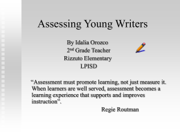 Assessing Young Writers