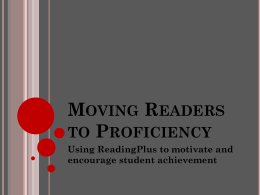 Moving Readers to Proficiency