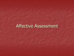 Affective Assessment - Appalachian State University