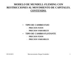 MODELO DE MUNDELL-FLEMING CON RESTRICCIONES AL …