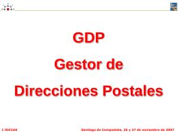 Gestor de Direcciones Postales.GDP