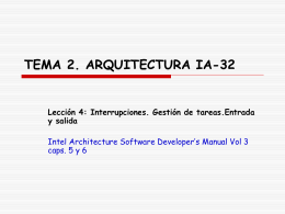 TEMA 2. ARQUITECTURA IA-32