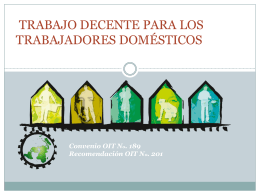 Decent Work for Domestic Workers Convention No. 189