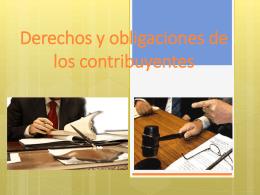 6.2 Obligaciones de los contribuyentes.