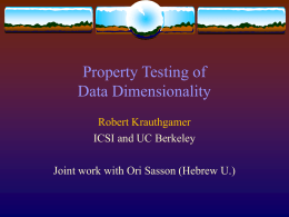 Testing Dimensionality