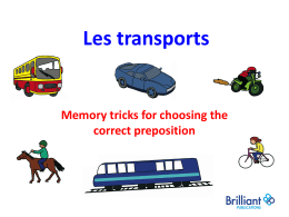 Les transports - Light Bulb Languages