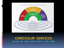 Curriculum services - HPESCHOOLS