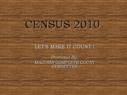 CENSUS 2010 - City of Macomb, Macomb Illinois
