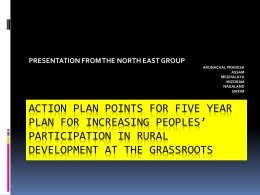 ACTION PLAN POINTS FOR INCREASING PEOPLES' …
