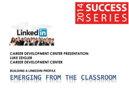 Building a LinkedIn Profile - East Stroudsburg University