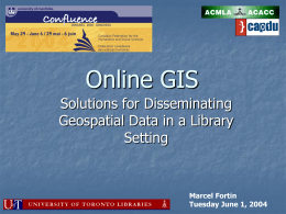 onlinegis - University of Toronto