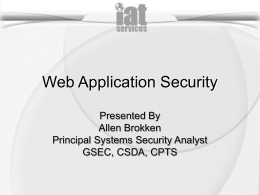 Top Ten Web Application Vulnerabilities