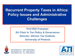 Property Taxation - Stellenbosch University