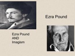 Ezra Pound & Imagism