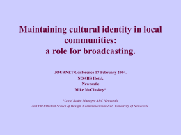 Challenges facing cultural identity through local