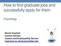 Graduate jobs in Psychology