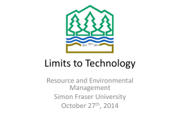 Limits to Technology - Simon Fraser University
