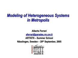 Metropolis Project - Uppsala University