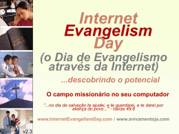 Internet Evangelism Day main presentation