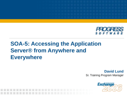 SOA-5: Accessing the Application Server from Anywhere …