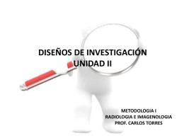 METODOLOGIA II RADIOLOGIA MEDICA PROF. CARLOS …