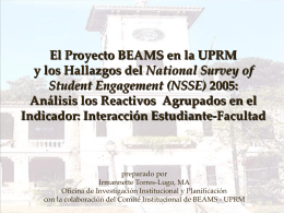 El Proyecto BEAMS y los Hallazgos del National Survey of