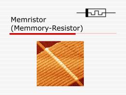 Memristor (Memmory