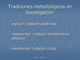 Enfoque cuantitativo /tradicional/ ortodoxo/positivista