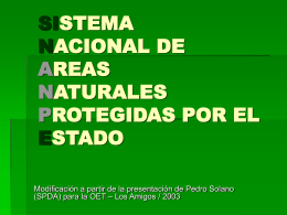SISTEMA LEGAL PERUANO DE AREAS NATURALES …