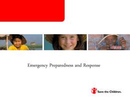 Emergency Preparedness and Planning Training