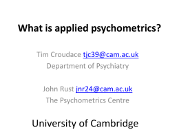 What is applied psychometrics?