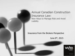 Construction Insurance Powerpoint