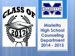 Marietta High School Counseling Department