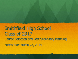 Smithfield High School Class of 2011