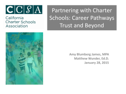 Partnering with Charter Schools: Career Pathways Trust and