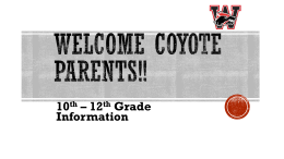 Junior Class Parent Information