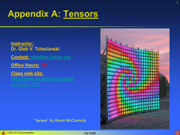 Appendix A: Tensors - Lamar University Electrical Engineering