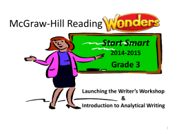 Analytical Writing - English Language Arts (ELA)